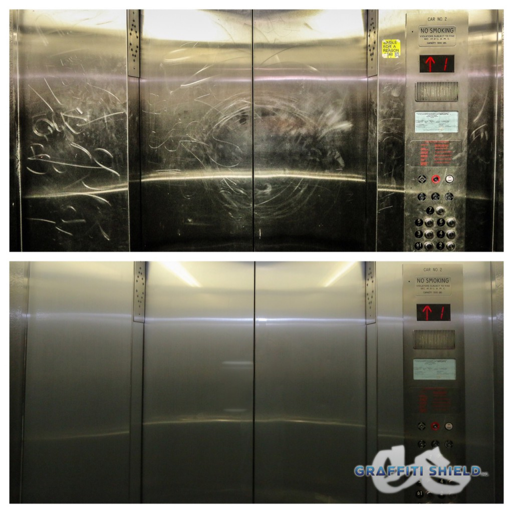 elevator refinishing graffiti shield window film colorado