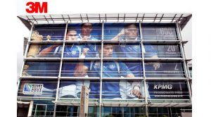 decorative branding window film colorado stadium arena
