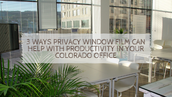 3 Ways Privacy Window Film Can Help With Productivity in Your Colorado Office